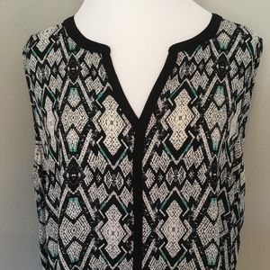 Pure Energy Tops - Pure Energy Blouse Top Sleeveless Geometric